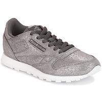 Zapatos Niña Zapatillas bajas Reebok Classic CLASSIC LEATHER J Gris / Metalico