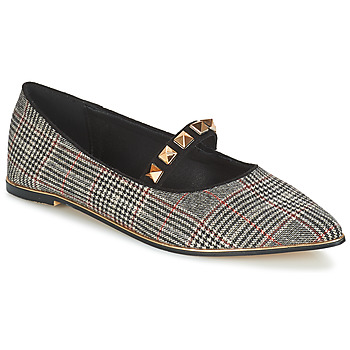Zapatos Mujer Bailarinas-manoletinas Menbur DOUMIER Negro / Rojo