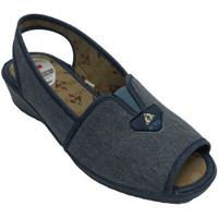 Zapatos Mujer Sandalias Muñoz Y Tercero Zapatilla mujer abierta punta y talón con tira por detrás azul