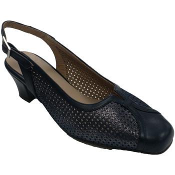 Zapatos Mujer Sandalias Trebede Zapato vestir mujer cerrado punta abierto atrás azul