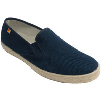 Zapatos Hombre Slip on Made In Spain 1940 Zapatilla hombre cerrada plantilla cáñam azul