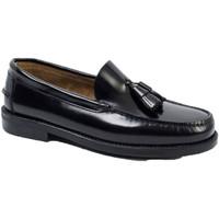 Zapatos Hombre Mocasín Edward's Castellanos borlas suela goma negro