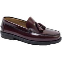 Zapatos Hombre Mocasín Edward's Castellanos borlas suela goma burdeos