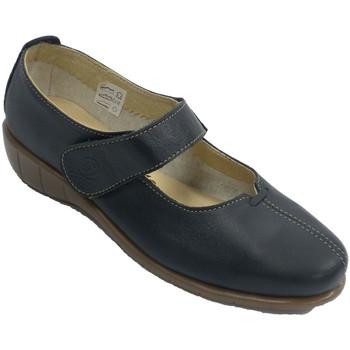 Zapatos Mujer Bailarinas-manoletinas 48 Horas Zapato mujer con trabilla tipo mercedita azul