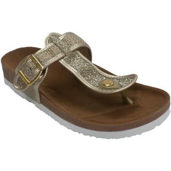 Zapatos Mujer Chanclas Gioseppo Chanclas paya mujer meter dedo planta anatómica oro
