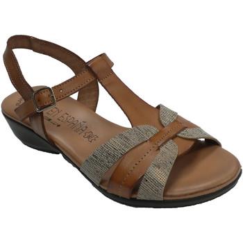 Zapatos Mujer Sandalias Togar Sandalia mujer planta de gel cómoda marrón