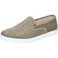 Zapatos Mujer Slip on Liu Jo slip on verde lona strass BZ112 verde