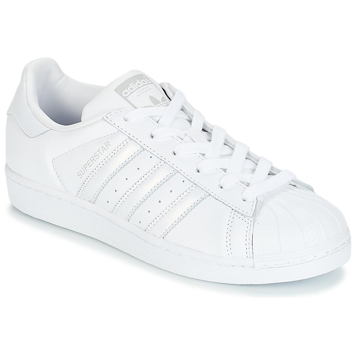 9cb5a2bf adidas Originals SUPERSTAR W Blanco / Plata - Envío gratis | Spartoo.es ! -  Zapatos Deportivas bajas Mujer 80,00 €
