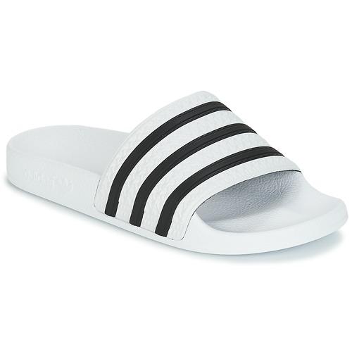 d988922b adidas Originals ADILETTE Blanco / Negro - Envío gratis | Spartoo.es ...