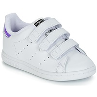 Zapatos Niña Zapatillas bajas adidas Originals STAN SMITH CF I Blanco / Plata