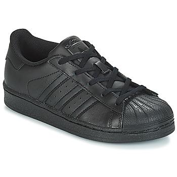 Zapatos Niños Zapatillas bajas adidas Originals SUPERSTAR C Negro