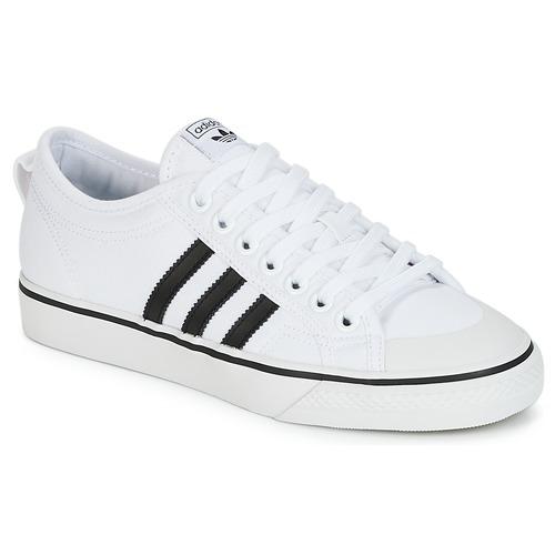 Zapatos especiales para hombres y mujeres adidas Originals NIZZA Blanco / Negro