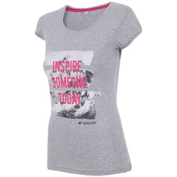 textil Mujer Tops y Camisetas 4F Women's T-shirt H4Z17-TSD002GREY