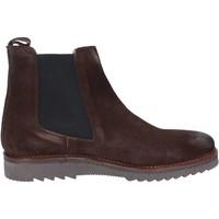 Zapatos Hombre Botas de caña baja Salvo Barone botines marrón gamuza BZ141 marrón