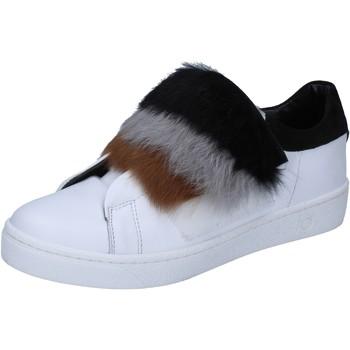 Zapatos Mujer Deportivas Moda Islo sneakers blanco cuero piel BZ211 blanco