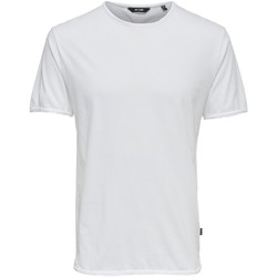 textil Hombre Camisetas manga corta Only & Sons 22008773 Bianco