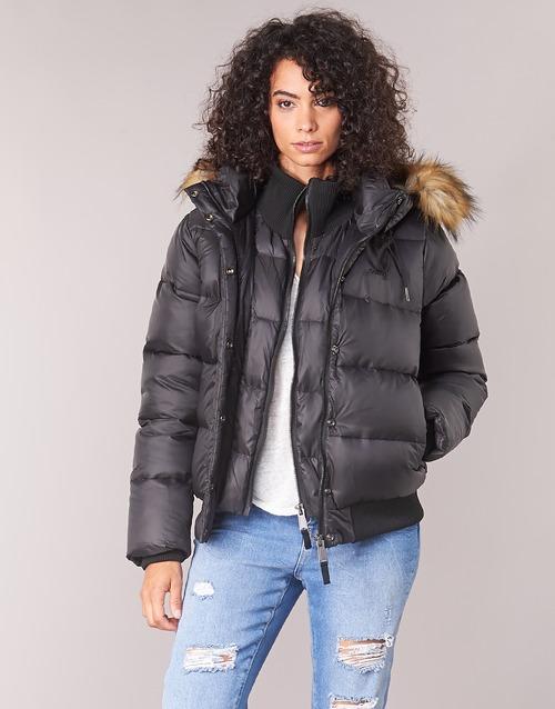 Plumas Mujer Negro Mayday Schott Textil gvIY76bfy