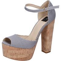 Zapatos Mujer Sandalias Islo sandalias negro textil blanco BZ223 negro
