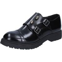 Zapatos Mujer Derbie Islo elegantes negro cuero brillante BZ224 negro