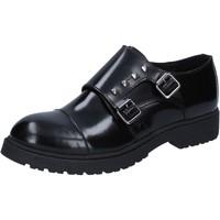 Zapatos Mujer Derbie Islo elegantes negro cuero BZ228 negro