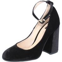 Zapatos Mujer Zapatos de tacón Islo de salón negro velluto BZ233 negro