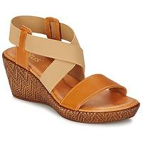 Zapatos Mujer Sandalias Lotus EMILIANO Marrón / Beige