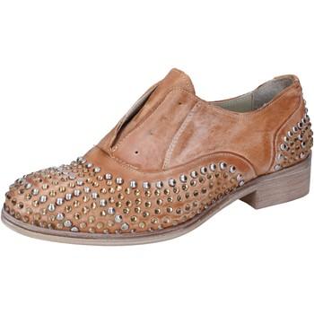 Zapatos Mujer Derbie Onako ONAKO' elegantes marrón cuero borchie BZ628 marrón