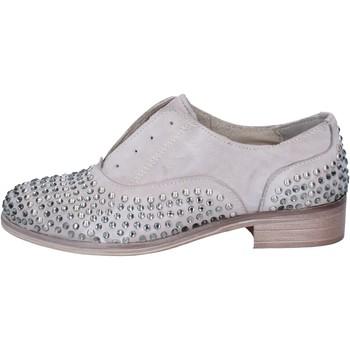 Zapatos Mujer Derbie Onako ONAKO' elegantes gris cuero borchie BZ629 gris