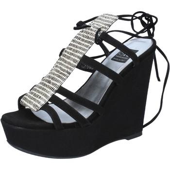 Zapatos Mujer Sandalias Islo sandalias negro gamuza BZ328 negro