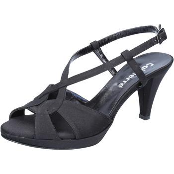 Zapatos Mujer Sandalias Calpierre sandalias negro satén BZ739 negro