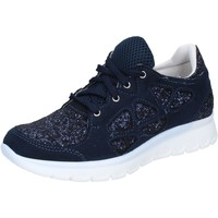 Zapatos Mujer Zapatillas bajas Hb Helene sneakers azul glitter gamuza BZ758 azul
