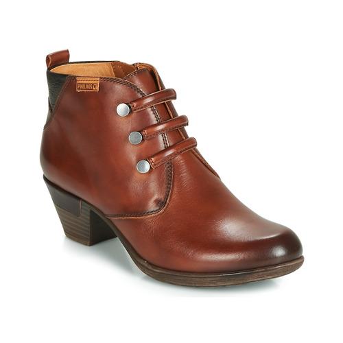 Zapatos Mujer Botines Pikolinos ROTTERDAM 902 Marrón