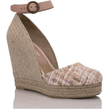 Zapatos Mujer Alpargatas Mtbali Sandalia Alpargata con cuña, Mujer - Modelo Altea Principesca rosa