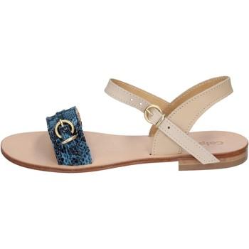 Zapatos Mujer Sandalias Calpierre sandalias azul cuero BZ838 azul