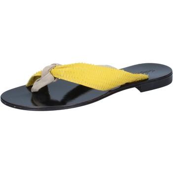 Zapatos Mujer Sandalias Calpierre sandalias beige gamuza amarillo cuero BZ869 beige