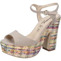 Zapatos Mujer Sandalias Geneve Shoes sandalias beige gamuza BZ890 beige