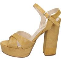 Zapatos Mujer Sandalias Geneve Shoes sandalias amarillo textil BZ892 amarillo