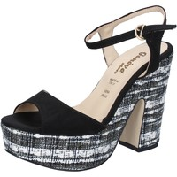 Zapatos Mujer Sandalias Geneve Shoes sandalias negro gamuza BZ893 negro
