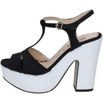 Zapatos Mujer Sandalias Geneve Shoes sandalias negro gamuza blanco BZ897 multicolor