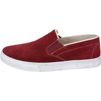 Zapatos Hombre Slip on Nyon NYON slip on burdeos gamuza BZ901 rojo