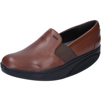 Zapatos Mujer Mocasín Mbt mocasines marrón cuero charol dynamic BZ910 marrón