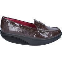 Zapatos Mujer Mocasín Mbt mocasines marrón charol dynamic BZ916 marrón