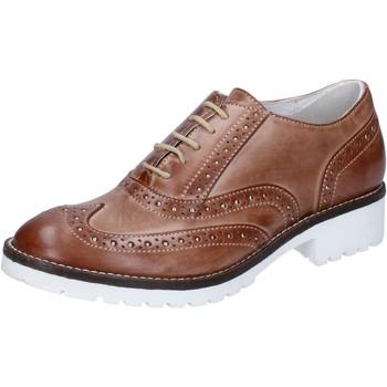 Zapatos Mujer Richelieu Crown elegantes marrón cuero BZ932 marrón