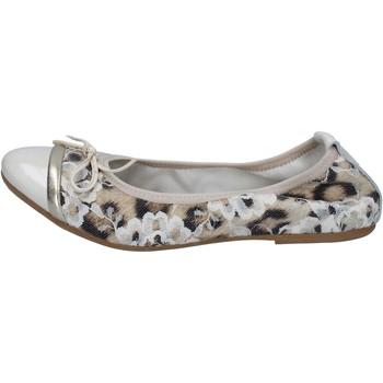 Zapatos Mujer Bailarinas-manoletinas Crown bailarinas beige charol textil BZ939 beige