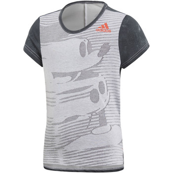 textil Niña camisetas manga corta adidas Performance Camiseta Disney The Mouse Gris / Blanco / Negro