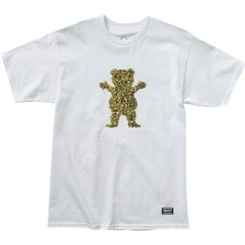 textil camisetas manga corta Grizzly Camiseta  Roll Up Bear SS Tee White multicolor