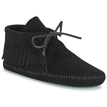 Zapatos Mujer Botas de caña baja Minnetonka CLASSIC FRINGE Negro