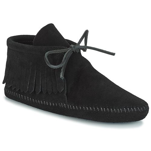 Cómodo y bien parecido Zapatos especiales Minnetonka CLASSIC FRINGE Negro