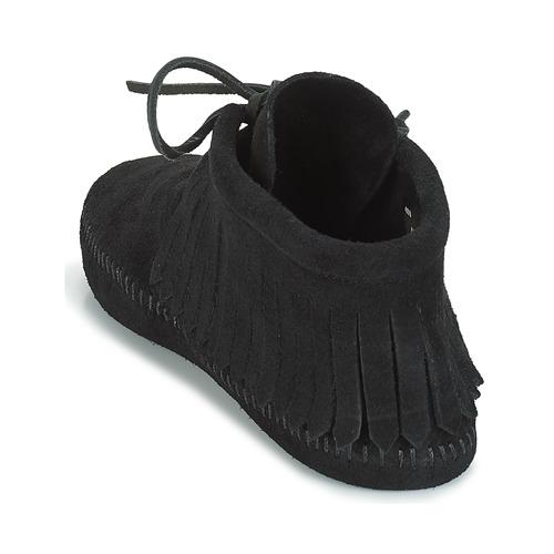 Baja Minnetonka Zapatos Caña Fringe Mujer Classic Botas Negro De CBsrdthxQ
