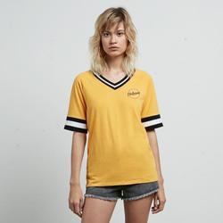 textil Mujer camisetas manga corta The Surf Town Camiseta Volcom Outta Here multicolor